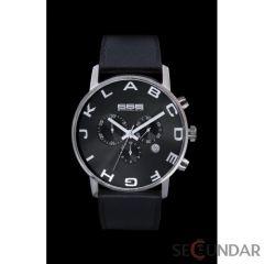 Ceas 666Barcelona Alphabet Black Chrono Leather 8424210002616 Barbatesc