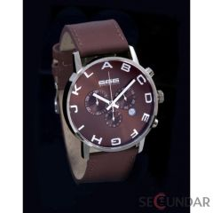 Ceas 666Barcelona Alphabet Brown Chrono Leather 8424210002623 Barbatesc