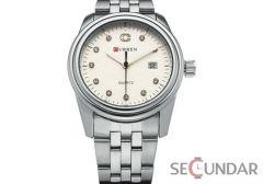 Ceas Curren Crystal Round Silver M8098 Barbatesc