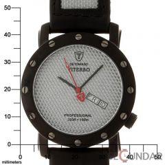 Ceas Detomaso DT1021-B VITERBO Silver Carbon Barbatesc