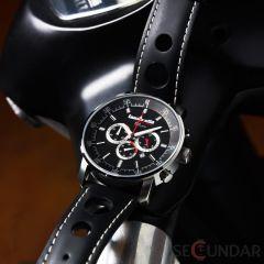 Ceas Lambretta IMOLA 2151bla Leather Black Barbatesc