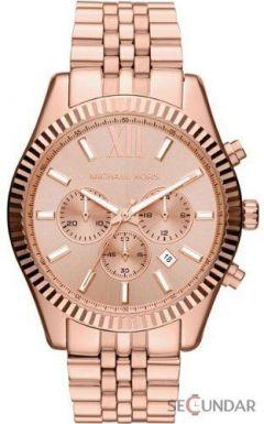 Ceas Michael Kors MK8319 Lexington Chronograph Rose Dial Barbatesc