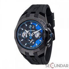 Ceas original  Detomaso Adrenaline Junkie Black/Blue DT-YG103-B  Barbatesc