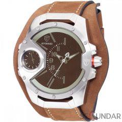 Ceas original  Detomaso Steppenwolf Brown Glass Silver/Brown DT-YG104-E    Barbatesc