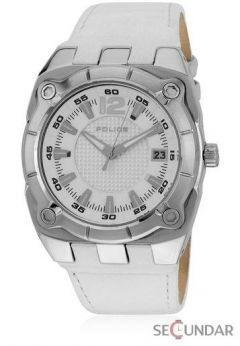 Ceas Police PL.12696JS-01 Marshall Luminous White Leather Date Barbatesc