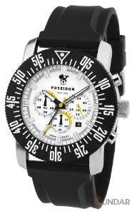 Ceas Poseidon 6020whi Chrono Silicon White Barbatesc