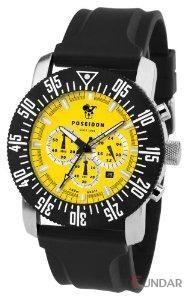 Ceas Poseidon 6020yel Chrono Silicon Yellow Barbatesc