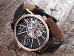Ceas Yves Camani Taravo Dual Time Automatic Rosegold YC1054-C Barbatesc