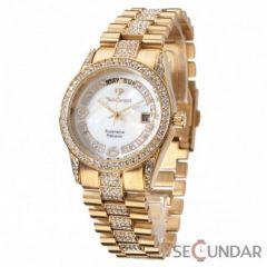 Ceas Yves Camani YC1043-C Tiberius Gold/White de Dama