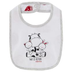 Baveta bebelusi Chicco, alb cu negru si rosu, 99