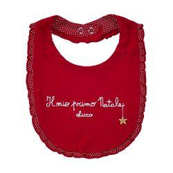 Baveta copii Chicco, pentru Craciun, rosu, 32657