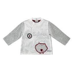 Bluza copii Chicco, gri cu alb, 06195