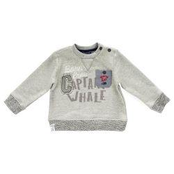 Bluza copii Chicco, gri cu model, 69242