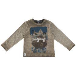 Bluza copii Chicco, maro cu model albastru, 06149