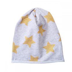 Caciula copii Chicco, baieti, gri cu stele aurii, 04140