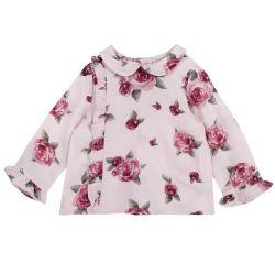 Camasa copii Chicco, roz cu trandafiri, 98