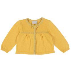 Cardigan copii Chicco, galben deschis, 68