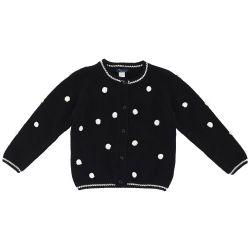 Cardigan copii Chicco, negru cu buline albe, 96514