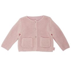 Cardigan copii Chicco, tricotat, roz, 96564