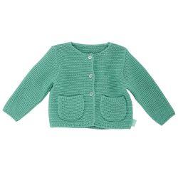 Cardigan copii Chicco, tricotat, verde menta, 96564