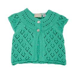 Cardigan tricotat copii Chicco, verde menta, 96544