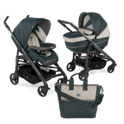 Carucior 2 in 1 Chicco Duo Love UP, carucior si landou, Wood, 0luni+