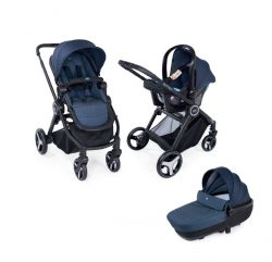 Carucior 3 in 1 Chicco Trio Best Friend Comfort, Oxford (Albastru), 0luni+