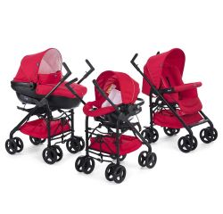 Carucior 3 in 1 Chicco Trio Sprint, car kit, RedPassion, 0luni+