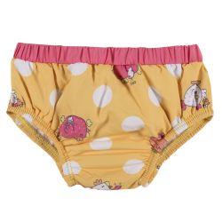 Slip baie pentru fetite Chicco, dublat, alb cu galben, 80