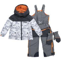 Costum ski copii Chicco, gri inchis, 128