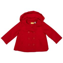 Jacheta impermeabila copii Chicco, fetite, rosu, 87300