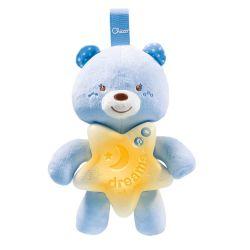 Jucarie Chicco pentru patut Ursuletul noapte buna, blue, 0luni+