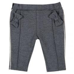 Pantalon copii Chicco, gri inchis, 62