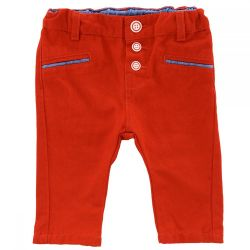 Pantalon lung copii Chicco, baieti, rosu, 24761