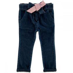 Pantalon lung copii Chicco, denim, fete, 24756