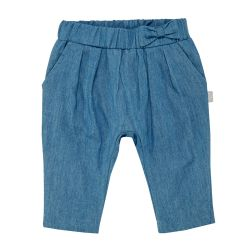 Pantalon lung jeans, copii, Chicco, fetite, albastru, 24685