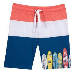 Pantalon scurt pentru plaja baieti Chicco, cu snur, albastru deschis, 128