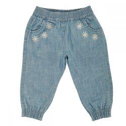Pantaloni copii Chicco, denim,albastru deschis, fete, 45416