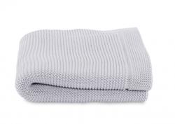 Paturica tricot pentru patuturi Chicco, Light Grey, 0luni+