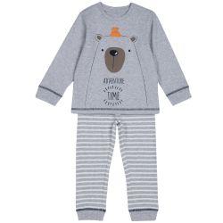 Pijama copii Chicco, gri, 104