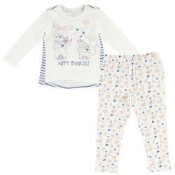 Pijama copii Chicco, maneca lunga, alb, 31195