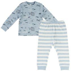 Pijama copii Chicco, maneca lunga, turcoaz, 31184