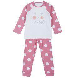 Pijama copii Chicco, roz cu albastru, 116