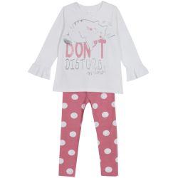 Pijama copii Chicco, roz cu albastru, 98