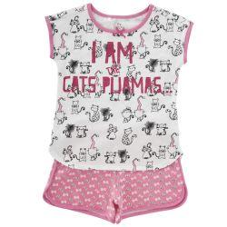 Pijama copii Chicco, maneca scurta, roz, 35349