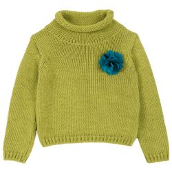 Pulover copii Chicco, verde, 104