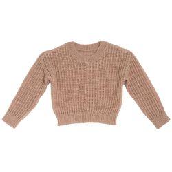 Pulover tricotat Chicco, roz, amestec lana, 64999