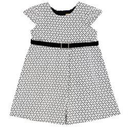 Rochie copii Chicco, alb cu negru, 98