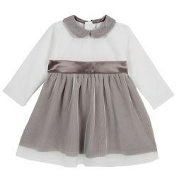 Rochie copii Chicco, maro, 80