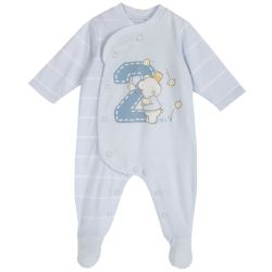 Salopeta bebe Chicco, maneca lunga si botosei, albastru, 50